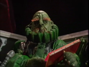 Martin Benson as Prostetnic Vogon Jeltz readin...