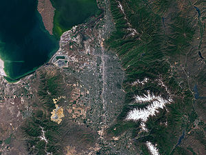 Salt Lake County as seen from space.