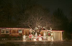 Christmas lights in a residential neighbourhoo...
