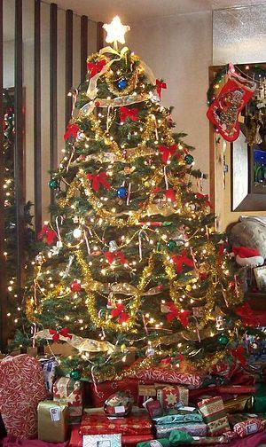 A Christmas tree inside a home.